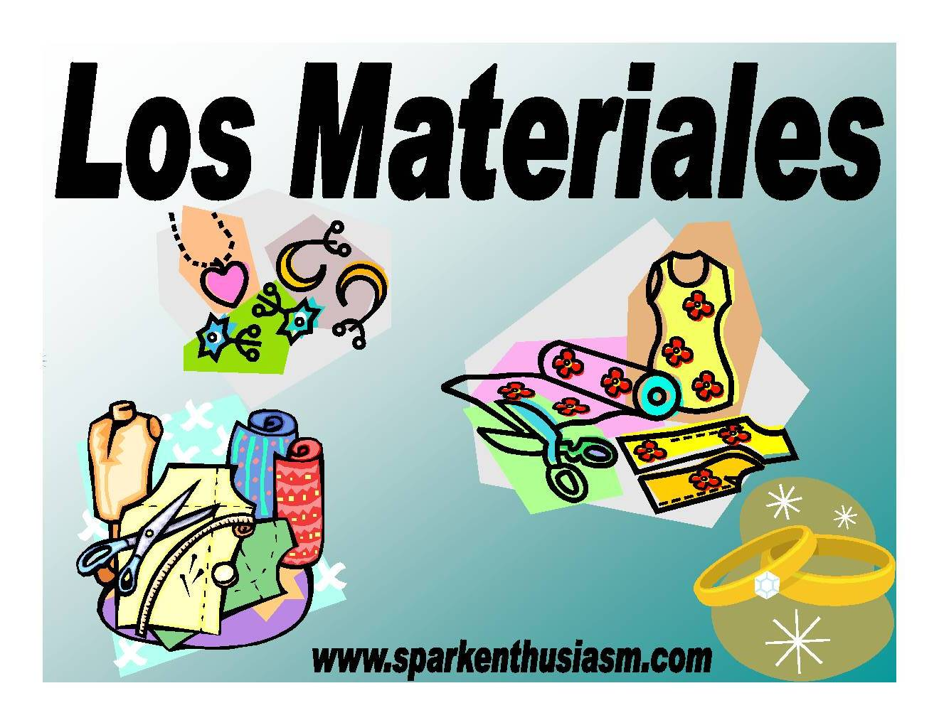 Spark Enthusiasm Books Publications # Los Muebles Powerpoint